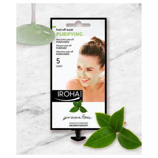 Маска-пиллинг для лица пленочная очищающая Iroha с экстрактами зеленого чая и гинкго 25 гр