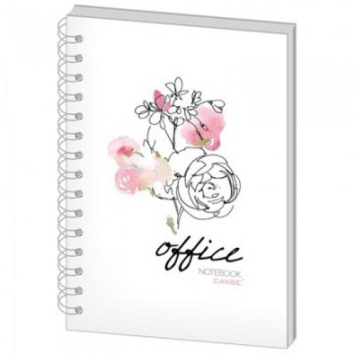 Бизнес-тетрадь 60л,кл,А5,Office Flowers,тв.пер,спир,УФ(СВА5-60OF) 37850261