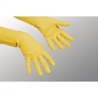 Перчатки резиновые Vileda Profes латекс хлопков.напылен желтый р-р M 100759