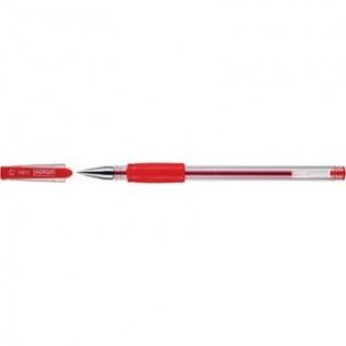 Ручка гелевая Attache Town 0,5мм с резин.манжеткой красный Россия