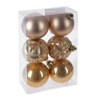 Украшение новогоднее Шар (набор из 6 шт) (золотой жемчуг), D 6см 722910