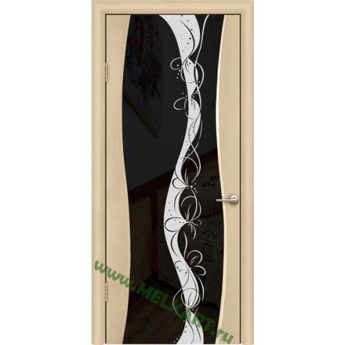 Дверь ульяновская шпонированная Тироль со стеклом триплекс 49379 1