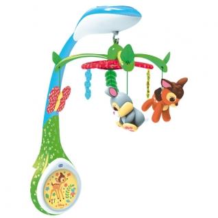 """Игрушка-проектор для кроватки """"Бэмби"""" (свет, звук, вращение) Chicco"""