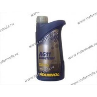 Антифриз MANNOL AG11 -40 1л концентрат синий