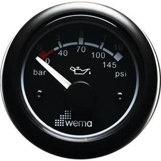 Wema Индикатор давления масла чёрный Wema IORP-BB-0-10 12/24 В 0 - 10 бар