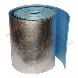 ПЕНОФОЛ А-02 металлизированный (1,2х25м=30м2) / Теплоизоляция отражающая 2мм (1,2х25м=30м2)