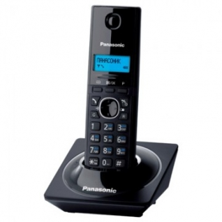 Радиотелефон Panasonic KX-TG1711RUB,чёрный,АОН,тел.книга 50ном.