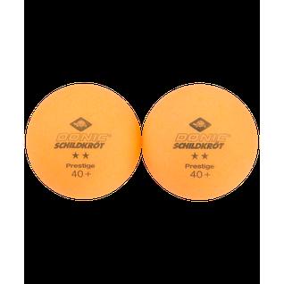 Мяч для настольного тенниса Donic 2* Prestige, оранжевый, 6 шт.