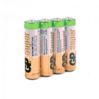 Батарейки GP Super экон.уп.AAA/LR03/24A алкалин.4шт/уп GP24ARS-2SB4