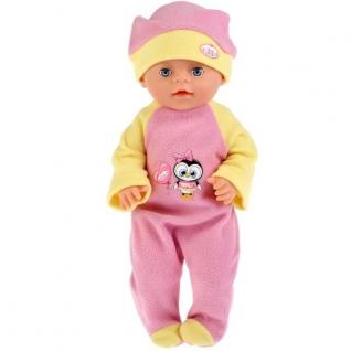 Одежда для кукол 'Карапуз' 40-42см, теплый комбинезон и шапочка 'пингвиненок' в пак. в кор.100шт