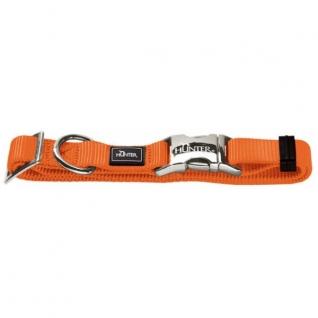 Hunter Hunter ошейник для собак ALU-Strong L (45-65 см) нейлон с металлической застежкой оранжевый