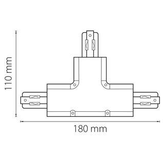 504139 Соединитель трековый трехфазный BARRA T-образный СЕРЫЙ Lightstar