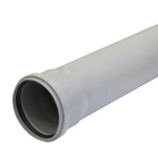 Труба фановая серая 110мм с раструбом, длина 2000мм