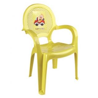 Детский табурет Dunya plastik с рисунком 6205 желтый