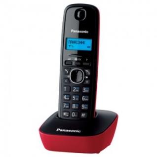 Радиотелефон Panasonic KX-TG1611RUR красный,АОН,тел.книга 50 ном.
