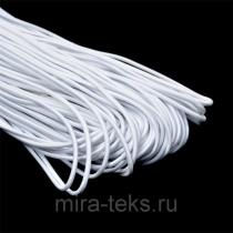 Резинка шляпная 3 мм, цвет: белый
