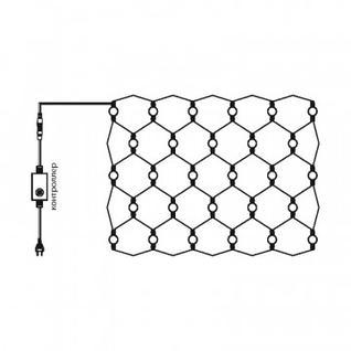Гирлянда Сеть 1,5х1,5м, прозрачный ПВХ, 150 LED Мультиколор 215-129