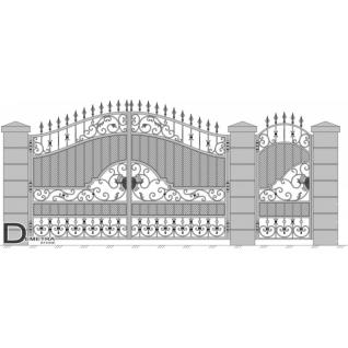 Кованые ворота калитка В-025 (кв.м)