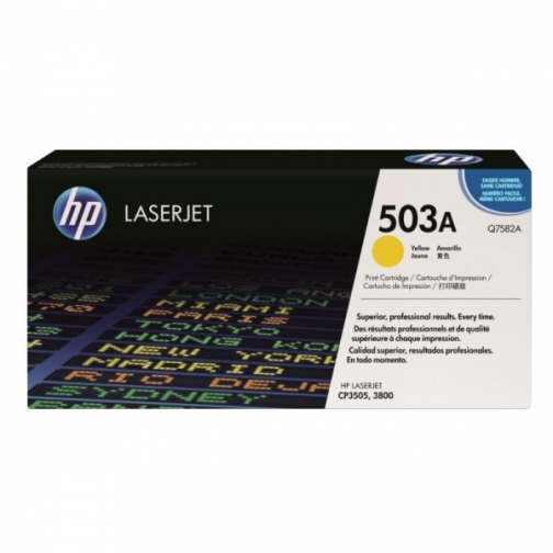Оригинальный картридж Q7582A для HP CLJ 3800, 3505 (желтый, 6000 стр.) 908-01 Hewlett-Packard 852403 1