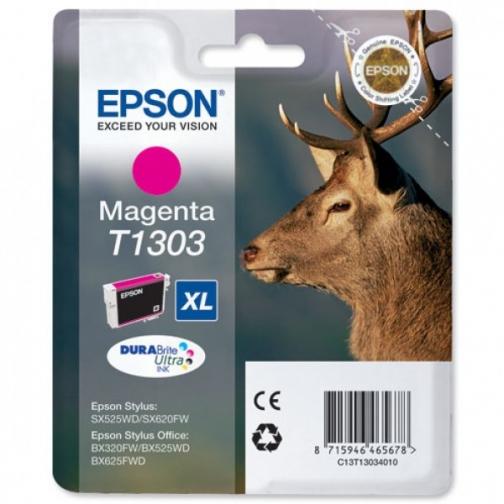 Картридж Epson T1303 (C13T13034010) для Epson, пурпурный, 765 стр. 7289-01 851307
