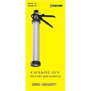 Пистолет для силикона алюминиевый,400гр. Partner