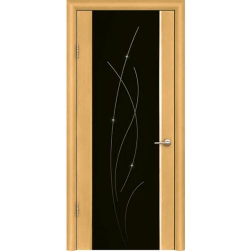Дверь ульяновская шпонированная Астарта со стеклом триплекс 49375