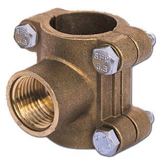 Врезка в трубу Ду15 (водоотвод) (латунь) ВЛМЗ