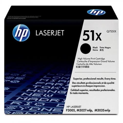 Картридж Q7551X №51X для HP LJ P3005, M3027, M3035 (черный, 13000 стр.) 745-01 Hewlett-Packard 852576 1