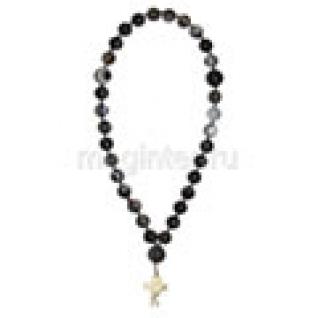 Четки православные из агата темно-серого, 10 мм