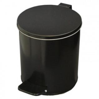 Урна педальная стальная круглая 7 л черная, 200 ммx230 мм