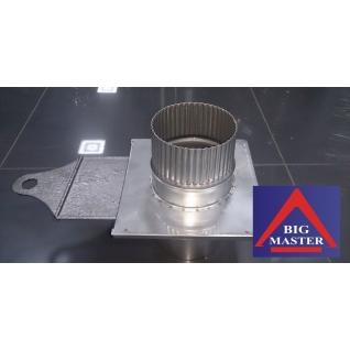 Четверник с конденсатоотводом и прочисткой для дымохода сэндвич D115/215 мм (нерж. 0,5/0,8 мм AISI 304 внутри)