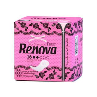 Ультратонкие гигиенические прокладки RENOVA, 16 шт