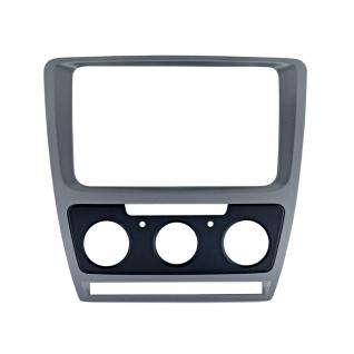 Переходная рамка Intro RSC-8676 M-SL для Skoda Octavia 04-12 Silver (Мех. Печь) Intro