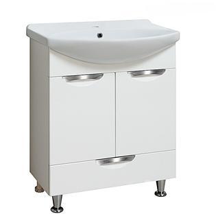 Тумба для ванной Runo Барселона 65 без Раковины (Лагуна 65) Белая