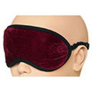 Турмалиновая повязка-очки с магнитами для глаз, бордовая