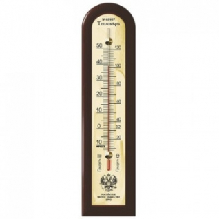 Термометр спиртовой комнатный махагон 05937