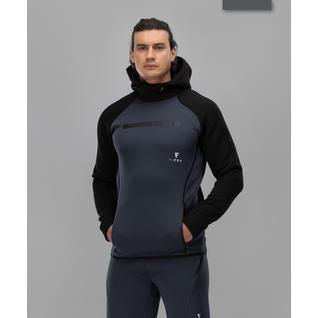 Мужское спортивное худи Fifty Intense Pro Fa-mj-0101, черный/темно-серый размер S