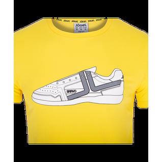 Футболка Jögel Jct-5202-041, хлопок, желтый/белый, детская размер YL
