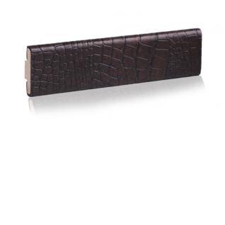Декоративный кожаный молдинг ЭЛЕГАНТ Сrocodile 32 мм (коричневый, черный)