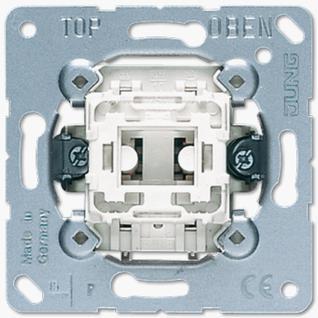 Механизм выключателя Jung 534U одноклавишный 10А кнопка без фиксации (НО) с сигнальным контактом
