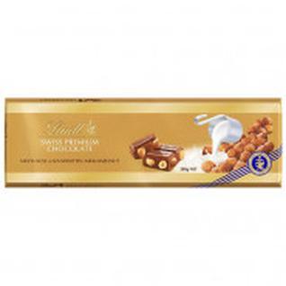 Шоколад Lindt Gold молочный с цельным фундуком, 300г