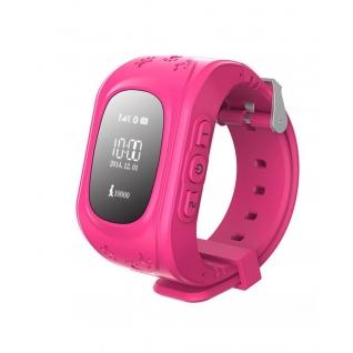 Детские часы GPS маяк KidTracker Q50 (розовые)