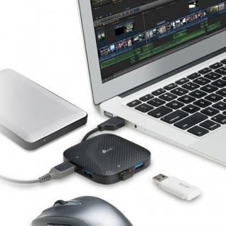 Разветвитель USB TP-LINK UH400, 4 USB 3.0, черный