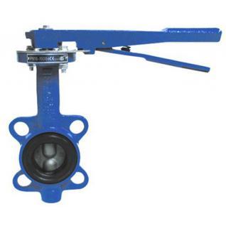 Затвор поворотн дисковый ручн ДУ-100 PN16 (темп -30 +130, диск-чугун, уплотн-резина EPDM)