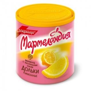 Мармелад Мармеландия лимонные дольки, 250 г.