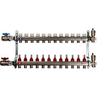 Коллектор STOUT из нержавеющей стали в сборе с расходомерами 12 выходов SMS 0907 000012