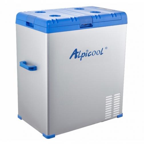 Kомпрессорный автохолодильник ALPICOOL ABS-75 синий (40л, 12/24/220В) 36971689