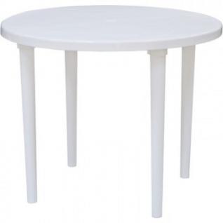 Стол пластиковый SPG_круглый D90, белый