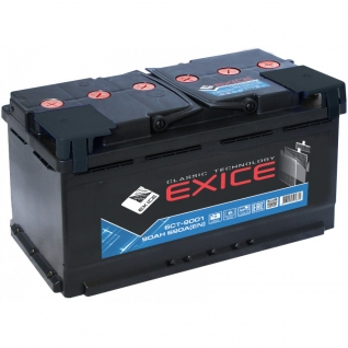 Аккумулятор EXICE Classic 6CT- 90NR 90 Ач (A/h) обратная полярность - EC 9001 EXICE (ЭКСИС) 6CT- 90NR