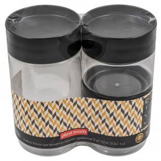 Набор банок для сыпучих прод. 3шт(2х0,5л,1л) черная кр. (PT1158ГРФ-6)